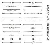 vector set of calligraphic... | Shutterstock .eps vector #474061405