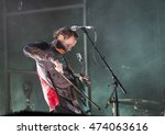 Small photo of Bontida, Romania - July 14, 2016: Sigur Ros, the Icelandic post-rock band from Reykjavík, performing live on the stage at Electric Castle festival, one of the biggest music festivals in Romania