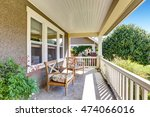 front covered porch with... | Shutterstock . vector #474066016
