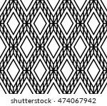 monochrome lattice argyle...   Shutterstock .eps vector #474067942