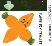 box cut in the form pumpkin ... | Shutterstock .eps vector #474072082