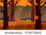 Autumn Landscape. Vector.natur...