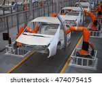 electric vehicles body assembly ... | Shutterstock . vector #474075415