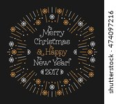 merry christmas and happy new... | Shutterstock .eps vector #474097216
