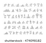 vector line sports icons.... | Shutterstock .eps vector #474098182