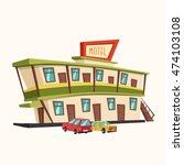 motel in the desert. old... | Shutterstock .eps vector #474103108