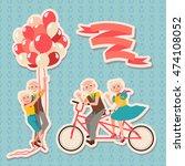 set happy grandparents day....   Shutterstock .eps vector #474108052