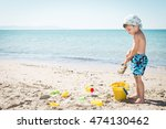 caucasian child playing on the... | Shutterstock . vector #474130462