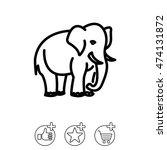 web line icon. elephant  wild...   Shutterstock .eps vector #474131872