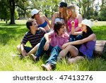 happy group of friends smiling ... | Shutterstock . vector #47413276