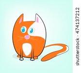red cute cat lover   Shutterstock .eps vector #474137212