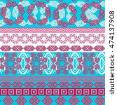 tribal seamless pattern.... | Shutterstock .eps vector #474137908
