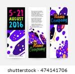 banners set  trendy geometric... | Shutterstock .eps vector #474141706