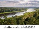 Circles Of River Daugava In...