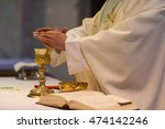 priest during a wedding... | Shutterstock . vector #474142246