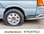 flat tire | Shutterstock . vector #474147412