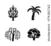 trees vector icons | Shutterstock .eps vector #474181762