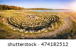 pattern made of stones in the... | Shutterstock . vector #474182512