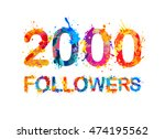 2000  two thousand  followers.... | Shutterstock .eps vector #474195562