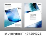 brochure layout template flyer... | Shutterstock .eps vector #474204328