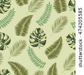 vector seamless tropical... | Shutterstock .eps vector #474205585