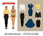 paper doll with clothes for... | Shutterstock .eps vector #474211336