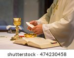 priest during a wedding... | Shutterstock . vector #474230458
