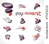 vector abstract design elements | Shutterstock .eps vector #47423212