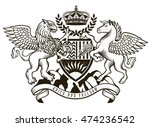 vector heraldic illustration in ... | Shutterstock .eps vector #474236542