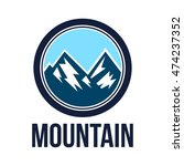 simple modern hipster mountain... | Shutterstock .eps vector #474237352