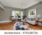 elegant gray living room with... | Shutterstock . vector #474238726