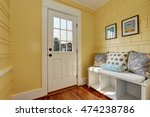 entryway with yellow walls and... | Shutterstock . vector #474238786