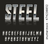 steel  modern 3d font made of... | Shutterstock .eps vector #474238852