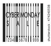 cyber monday illustration over... | Shutterstock .eps vector #474240538