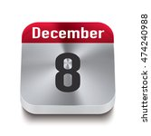 3d red and steel calendar...