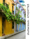 colorful colonial architecture... | Shutterstock . vector #474247765