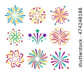 festive firework bursting shape ... | Shutterstock .eps vector #474248188