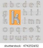 retro line 3d font abc....   Shutterstock .eps vector #474252652