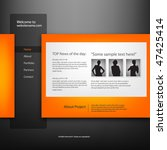 web site design template ... | Shutterstock .eps vector #47425414