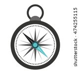 compass guide isolated icon...