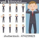 diverse set of young... | Shutterstock .eps vector #474259825