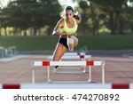 portrait of young athlete... | Shutterstock . vector #474270892