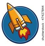 cartoon rocket | Shutterstock .eps vector #47427844