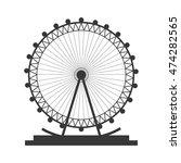 flat design ferris wheel icon... | Shutterstock .eps vector #474282565