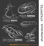 food icon sketches  sea food ... | Shutterstock .eps vector #474299752