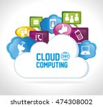 cloud computing data icon... | Shutterstock .eps vector #474308002