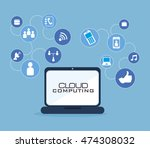 cloud computing data icon... | Shutterstock .eps vector #474308032