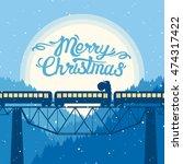 vector illustration  santa... | Shutterstock .eps vector #474317422