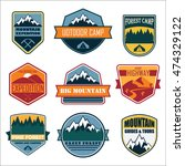 nature badges | Shutterstock .eps vector #474329122