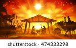 christmas christian nativity... | Shutterstock .eps vector #474333298